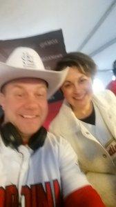 Cowby KMOX Interview Home Opener 2015 Debbie