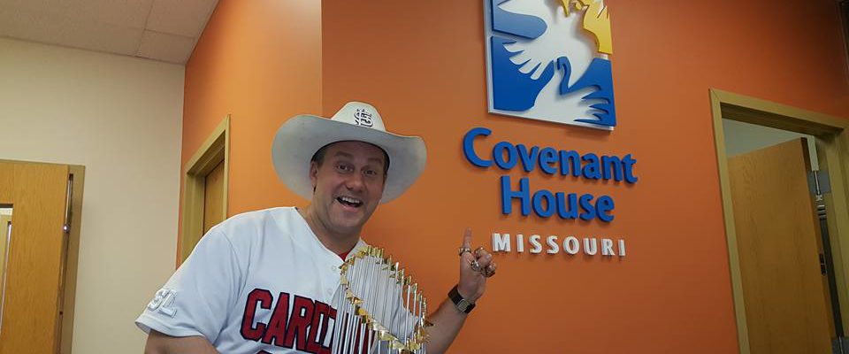 Cardinal Cowboy Speaks at the Covenant House for Troubled Teens!